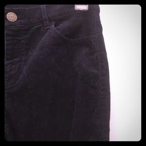 Corduroy dark blue boot cut pants!